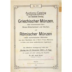 Bound Volume of Hirsch Sales, Including Weber Greek