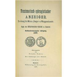 Rare Volumes of the Numismatischer Anzeiger