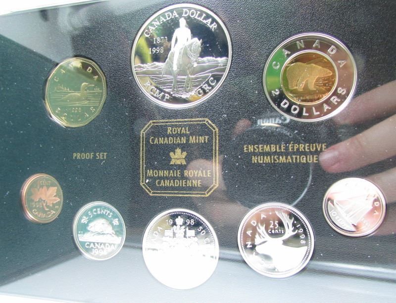 1998 Canada RCMP 125 Years Proof Silver Double Dollar Set