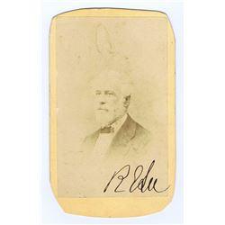 Signed Carte of Robert E. Lee.