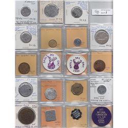 Ontario Trade Tokens - Lot of 23 Algoma District And Sudbury District Trade tokens