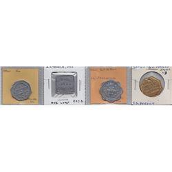 Ontario Trade Tokens - Lot of 4 Algoma District Bread tokens