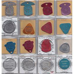 Ontario Trade Tokens - Lot of 23 Algoma District And Sudbury District Milk tokens