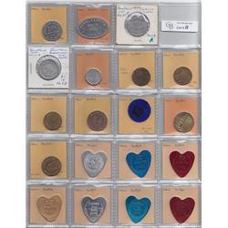 Ontario Trade Tokens - Lot of 31 Brantford trade tokens