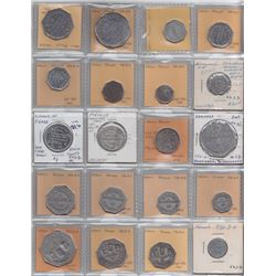 Ontario Trade Tokens - Lot of 20 Bruce County due bills