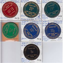 Ontario Trade Tokens, Carleton County - Lot of 7 Ottawa Tandy Leather Tokens
