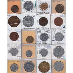 Ontario Trade Tokens, Carleton County - Lot of 20 Miscellaneous Ottawa Tokens