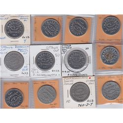 Ontario Trade Tokens, Carleton County - Lot of 12 Ottawa Shave Tokens