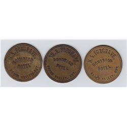 Ontario Trade Tokens, Dufferin County - Lot of 3 Grand Valley livery tokens