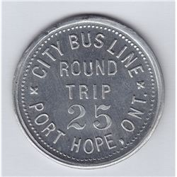 Port Hope transportation token