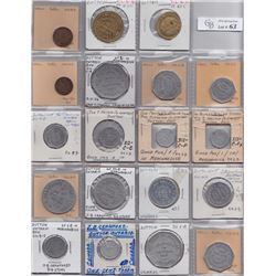 Ontario Trade Tokens, Elgin County - Lot of 23 Dutton trade tokens