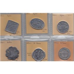 Ontario Trade Tokens - Lot of 6 Elgin County Bread tokens