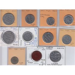 Ontario Trade Tokens, Frontenace County - Lot of 11 Kingston Tokens