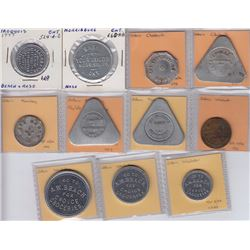 Ontario Trade Tokens - Lot of 11 Glengarry County Tokens