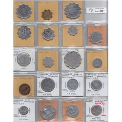 Ontario Trade Tokens - Lot of 19 Grey County trade tokens