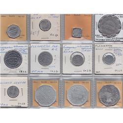Ontario Trade Tokens - Lot of 12 Grey County trade tokens