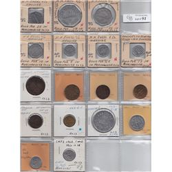 Ontario Trade Tokens, Grey County - Lot of 17 Hanover trade tokens