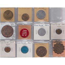 Ontario Trade Tokens - Lot of 12 Grey Co trade tokens