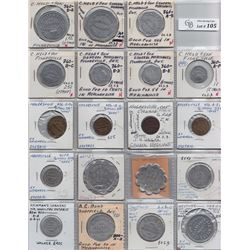 Ontario Trade Tokens - Lot of 19 Haldimand County and Wentworth County trade tokens