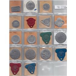 Ontario Trade Tokens - Lot of 17 Kenora District And Rainy River District Bread and milk tokens
