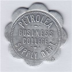 Ontario Trade Tokens, Lambton County - Petrolea Business College token