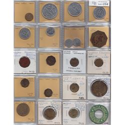 Ontario Trade Tokens, Lambton County - Lot of 21 Watford trade tokens
