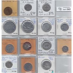 Ontario Trade Tokens, Lincoln County - Lot of 14 Grimsby trade tokens