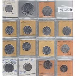 Ontario Trade Tokens - Lot of 15 Lincoln County trade tokens