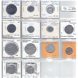 Ontario Trade Tokens - Lot of 13 Manitoulin District Trade tokens