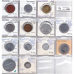 Ontario Trade Tokens - Lot of 13 Muskoka District trade tokens