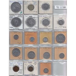 Ontario Trade Tokens, Norfolk County - Lot of 18 Port Dover trade tokens