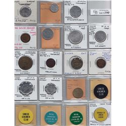 Ontario Trade Tokens, Norfolk County - Lot of 19 Simcoe trade tokens