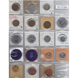 Ontario Trade Tokens  - Lot of 18 Thunder Bay District Trade tokens