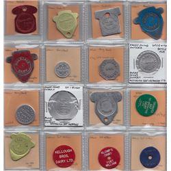 Ontario Trade Tokens - Lot of 28 Northern Ontario milk tokens