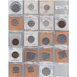 Ontario Trade Tokens - Lot of 18 Victoria trade tokens