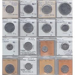 Ontario Trade Tokens - Lot of 16 Waterloo County trade tokens
