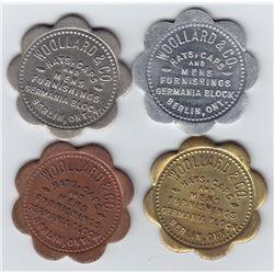 Ontario Trade Tokens, Waterloo County - Lot of 4 Berlin trade tokens