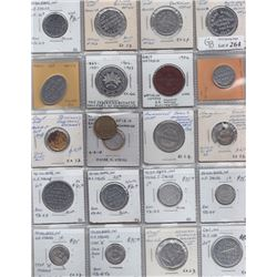 Ontario Trade Tokens - Lot of 21 Waterloo County trade tokens