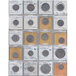Ontario Trade Tokens - Lot of 20 Waterloo County trade tokens