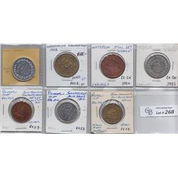 Ontario Trade Tokens - Lot of 7 Waterloo County trade tokens