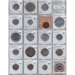 Ontario Trade Tokens - Lot of 19 Waterloo County trade tokens