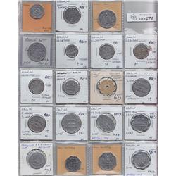 Ontario Trade Tokens - Lot of 19 Waterloo County bread tokens