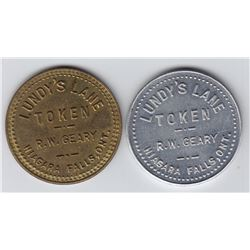Ontario Trade Tokens, Wellend County - Lot of 2 Niagara Falls trade tokens