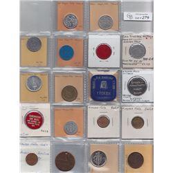Ontario Trade Tokens, Wellend County - Lot of 34 Niagara Falls trade tokens