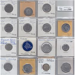 Ontario Trade Tokens, Wellend County - Lot of 15 Welland County trade tokens