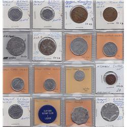 Ontario Trade Tokens - Lot of 16 Wellington County trade tokens