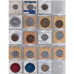 Ontario Trade Tokens - Lot of 18 Wellington County trade tokens