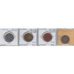 Ontario Trade Tokens - Lot of 4 Hillsburg trade tokens