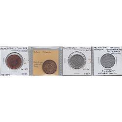 Ontario Trade Tokens - Lot of 4 Palmerston trade tokens