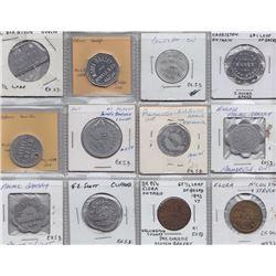 Ontario Trade Tokens - Lot of 12 Wellington County bread tokens